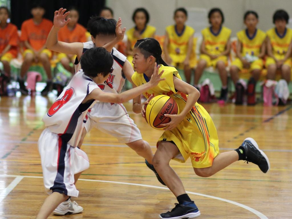 女子 ミニバスケットボール 写真 撮影