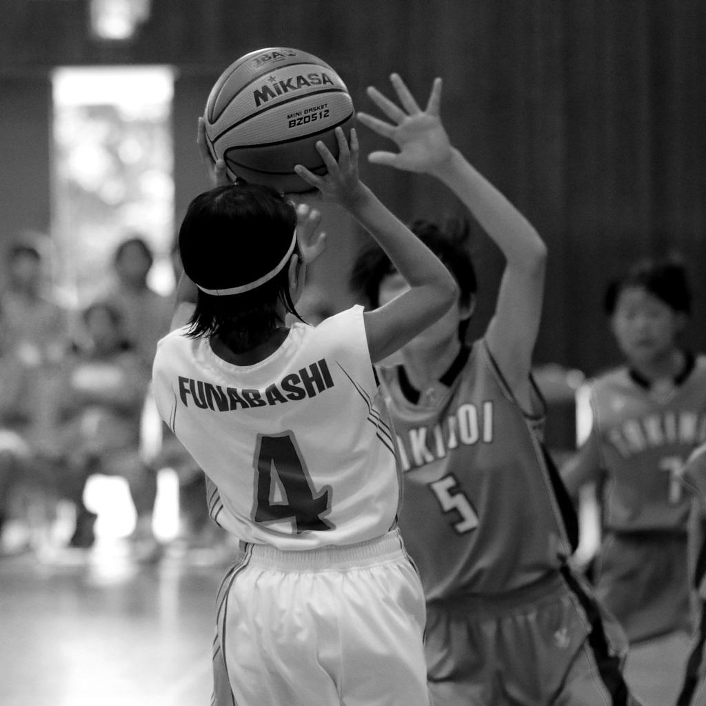 一眼レフカメラEOS 80Dで撮影したミニバスケットボール写真 Basketball Photo