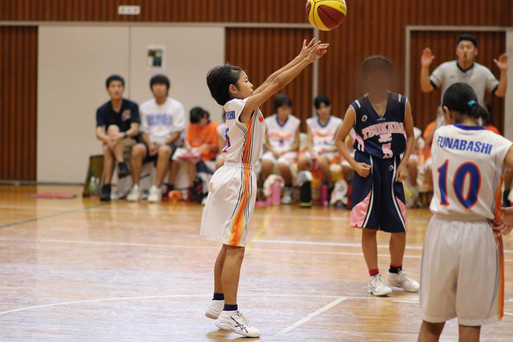 Canon Eos 80D + Canon EF 85mm F1.8 USMで撮影したミニバスケットボール写真