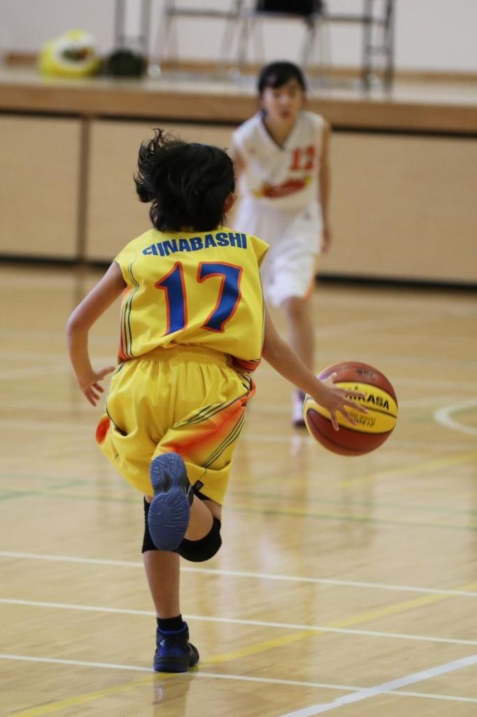 女子ミニバスケットボール写真 sigma50-100mm F1.8