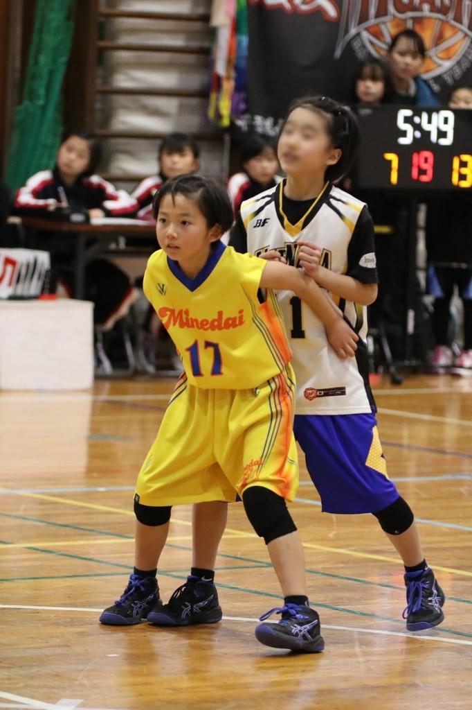 女子ミニバスケットボール写真 スクリーンアウト