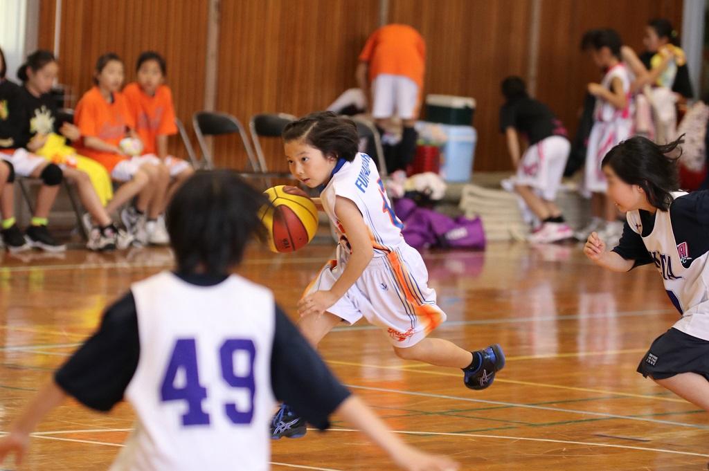SIGMA シグマ 50-100mm F1.8 DC HSM Art 女子ミニバスケットボール写真 ドリブル