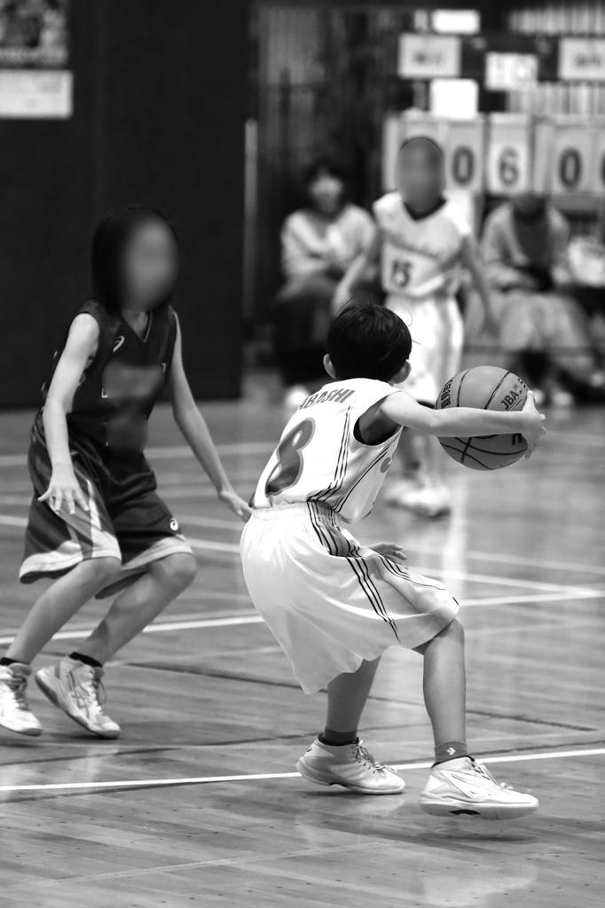 女子ミニバスケットボール写真 千葉県船橋市