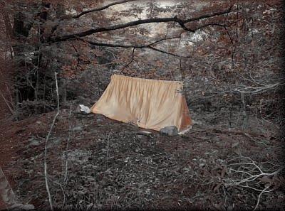 渓流でのソロキャンプ
