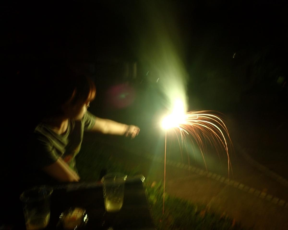 アウトドアの花火
