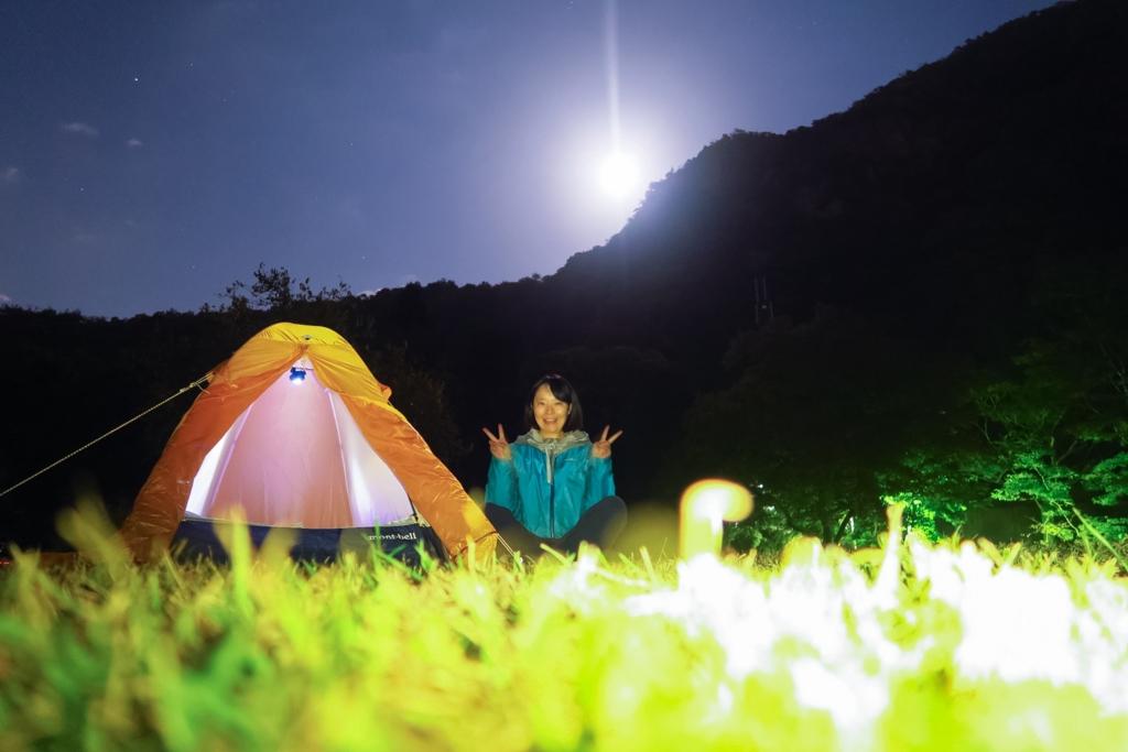 初の女子一人キャンプ!in桃太郎公園