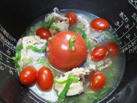 サバ缶トマト炊き込みご飯