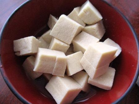 高野豆腐・戻し方・湯