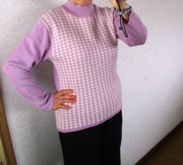 自分で修理したセーター