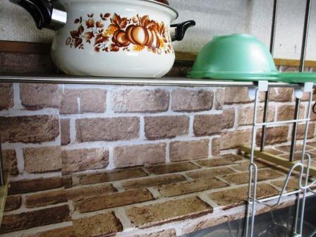 キッチン壁をセリアのリメイクシートで自己リフォーム