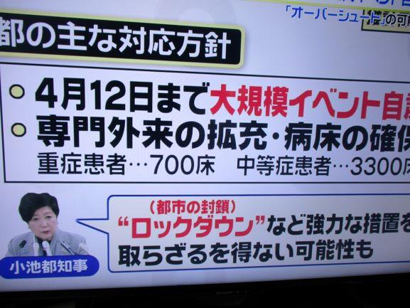東京封鎖・ロックダウン