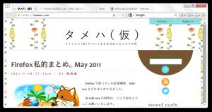 rein, the Firefox theme.