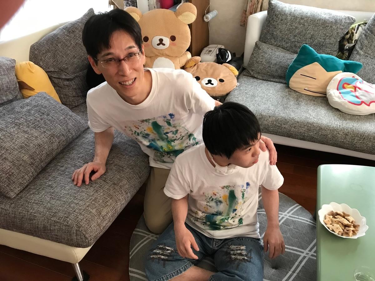 ダウン症 絵画 オリジナルTシャツ