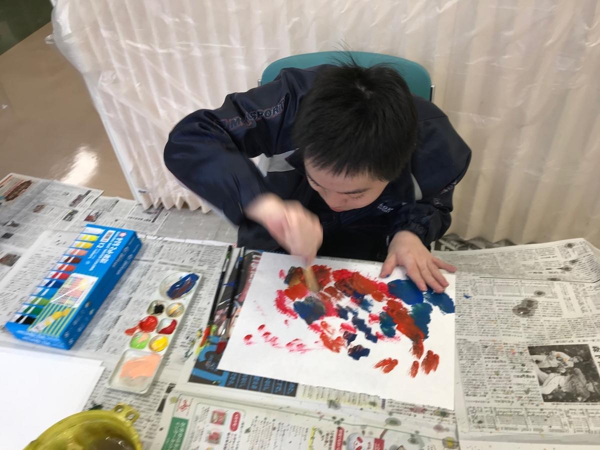 障がい者向け絵画教室 ダウン症
