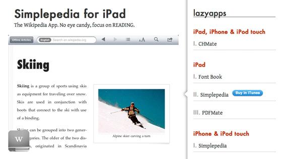 Simplepedia for iPad