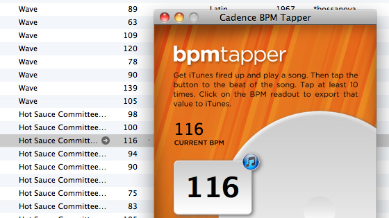 Cadence BPM Tapper