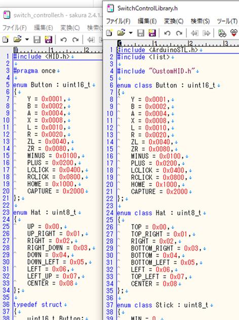 NintendoSwitchControllとSwitchControlLibraryの冒頭比較