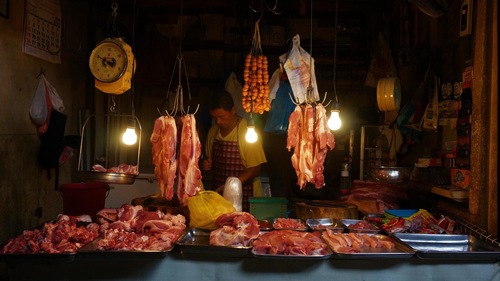 フィリピンのお肉屋さん
