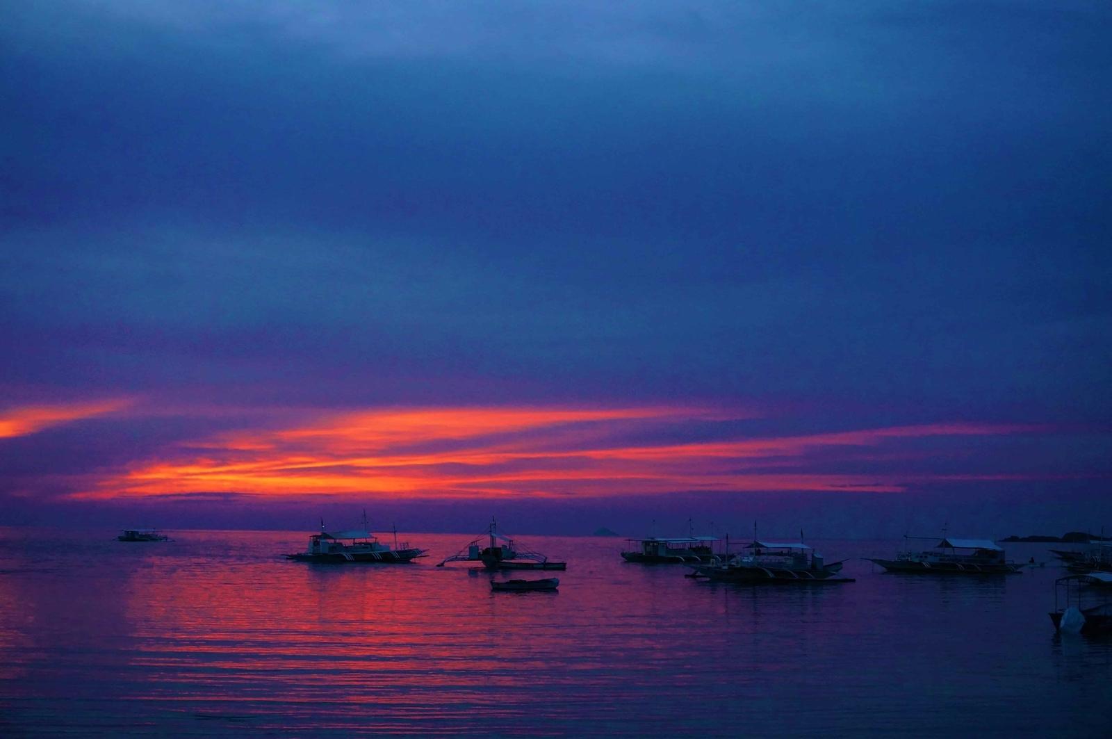 マラパスクア島のサンセット