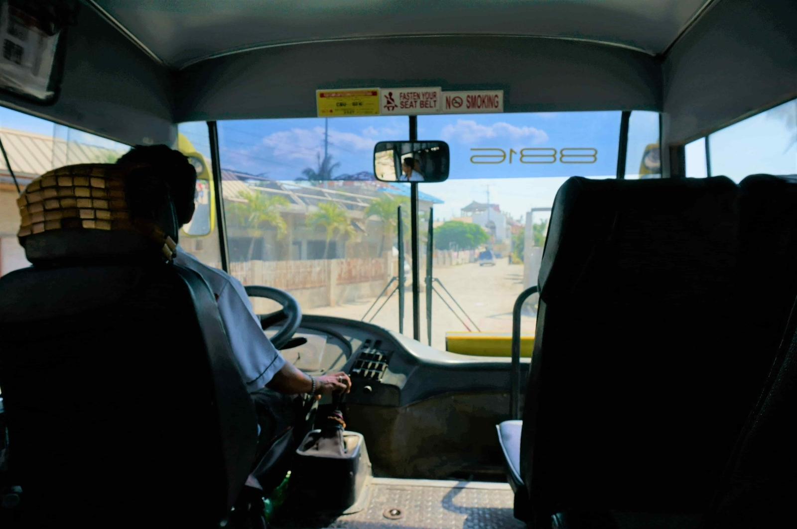 セブシティ行きのバス