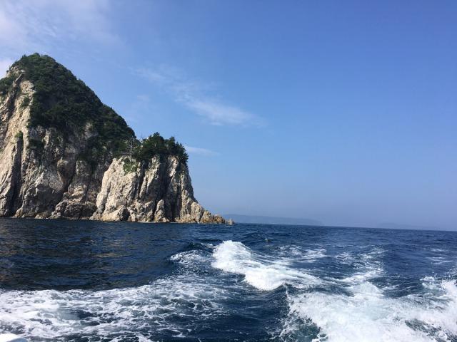 漁場までの景観