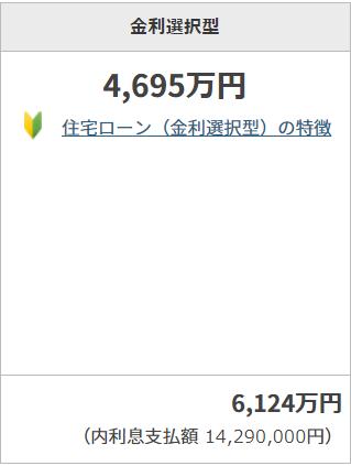 年収500万円の変動金利での住宅ローン返済上限額
