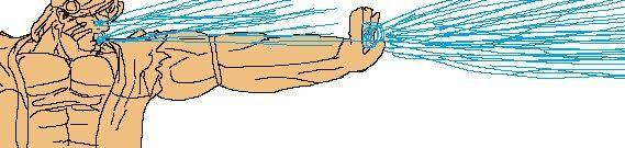 サンダーホークがアイアムリバーと叫びながらビームを放つ