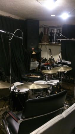 レコーディング、ドラムセット