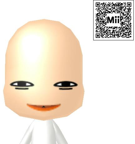 無許可でチャムさんの3DS用Mii作ったよ!