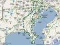 [自転車]三浦半島一周ログ(途中電池切れ)