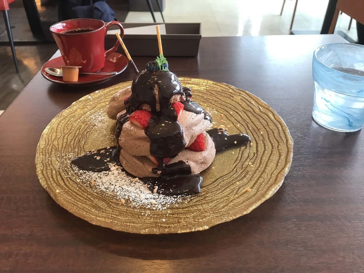 生チョコパンケーキ