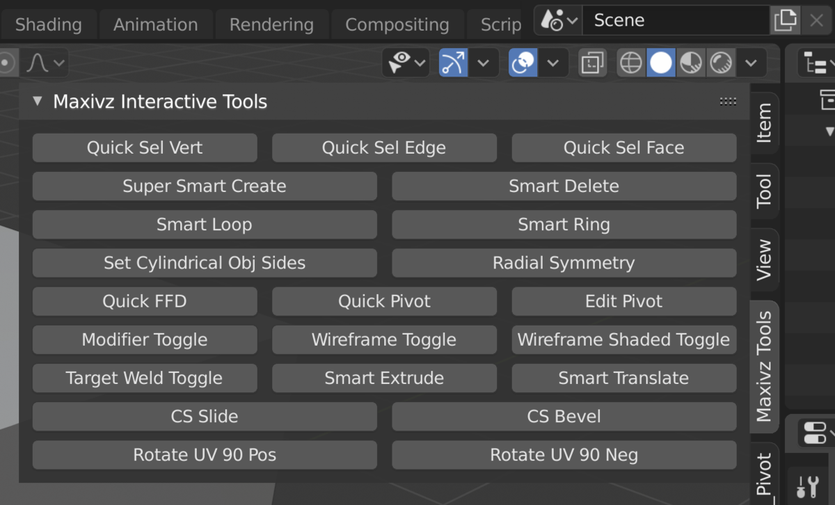 Maxivz's Interactive Tools for Blenderの解説