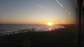 花咲線 夕日