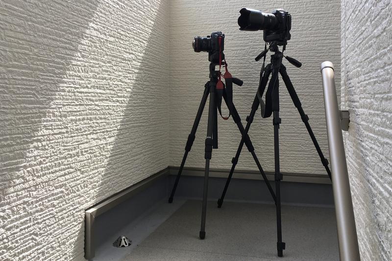 カメラ2台 17mmシフトレンズ 24mm-70mm標準レンズ