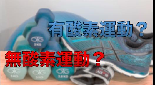 有酸素性運動と無酸素性運動とは?