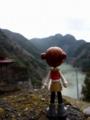 [ピンキーストリート] 夏焼集落から佐久間ダム湖を望む。
