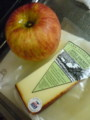 Apple and Apple Smoked Cheddar Cheese