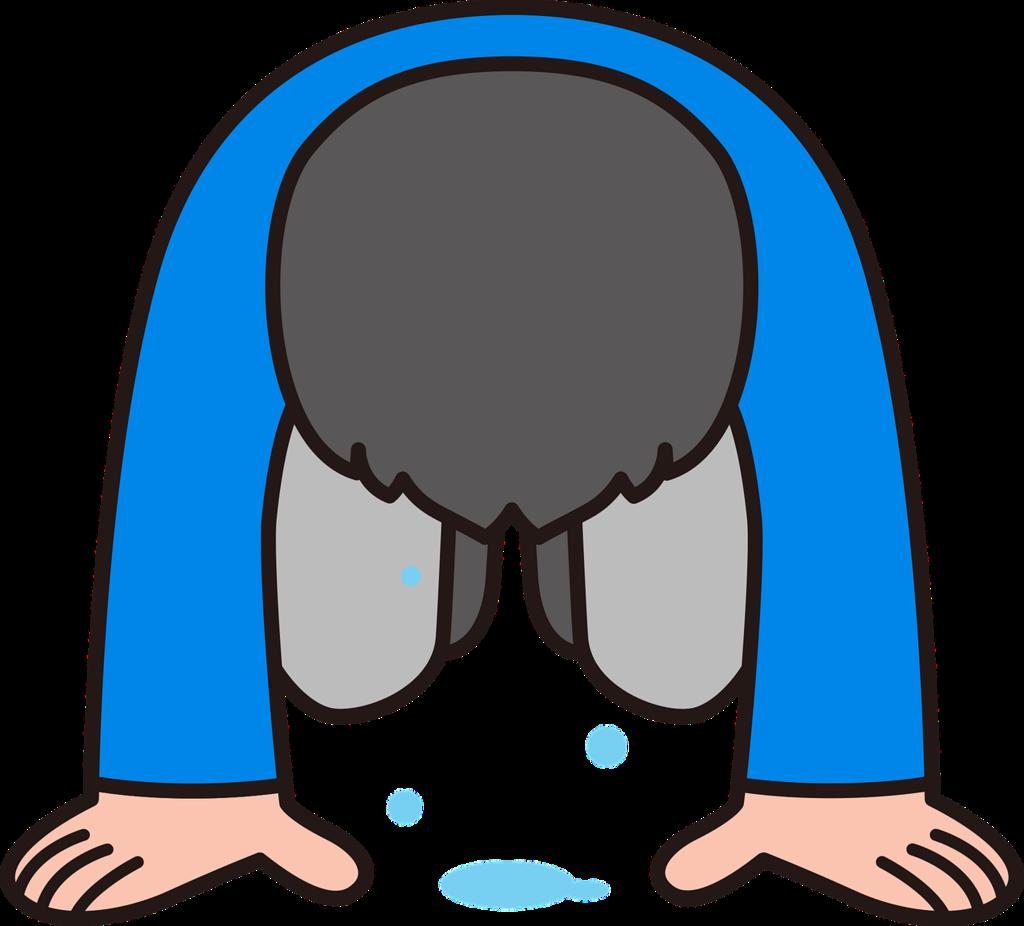 苦しみから落涙する男
