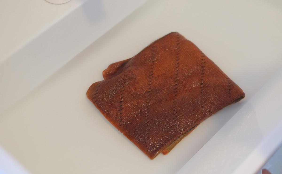 タバラットマフラーの洗い方4 すすぎ
