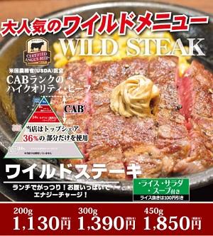 ワイルドステーキ