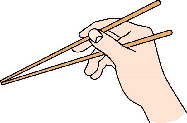 箸の正しい持ち方