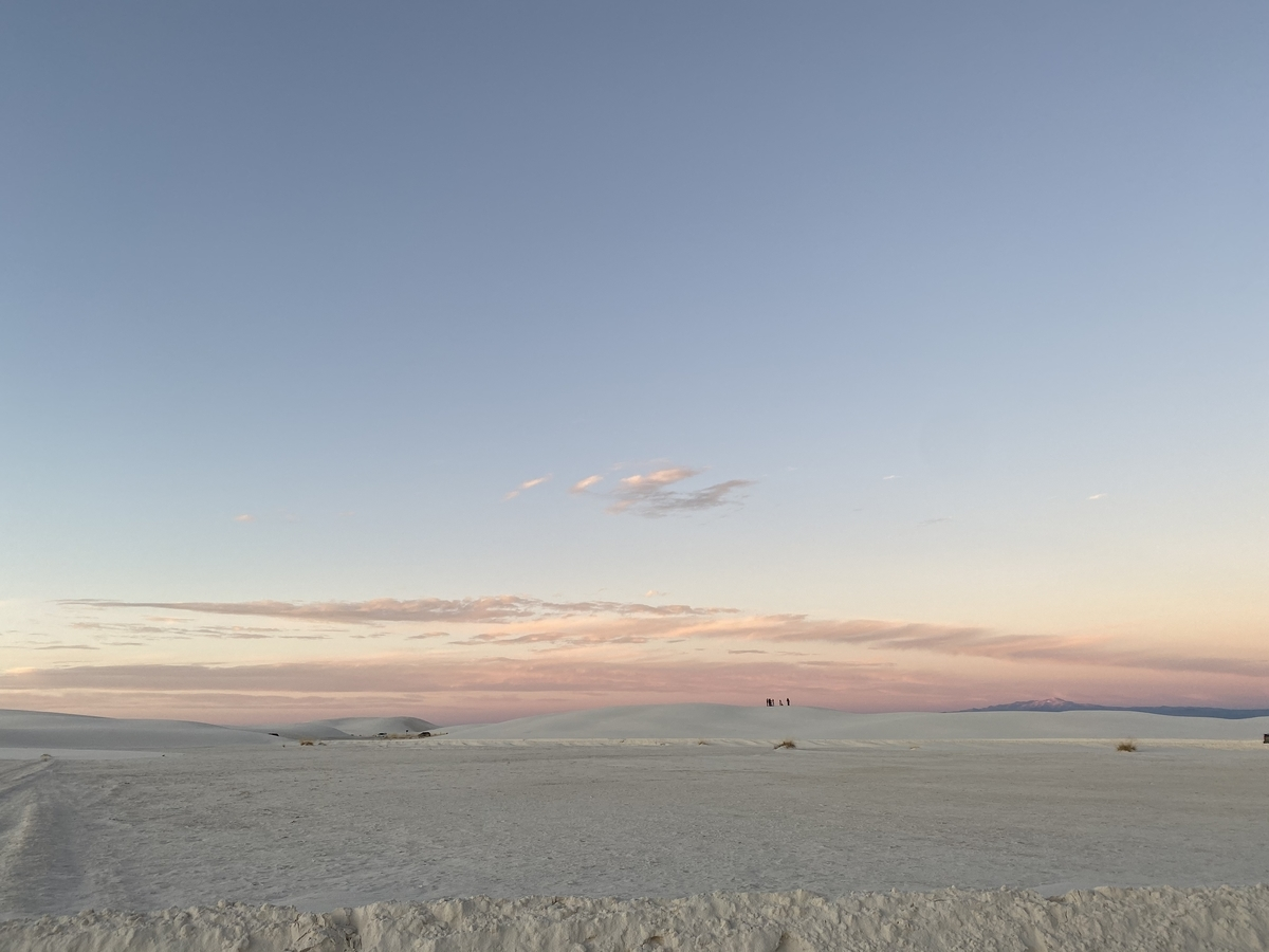 White sands at evening time