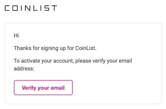 """""""登録したメールに届いている「Verify your email」をクリックします"""""""