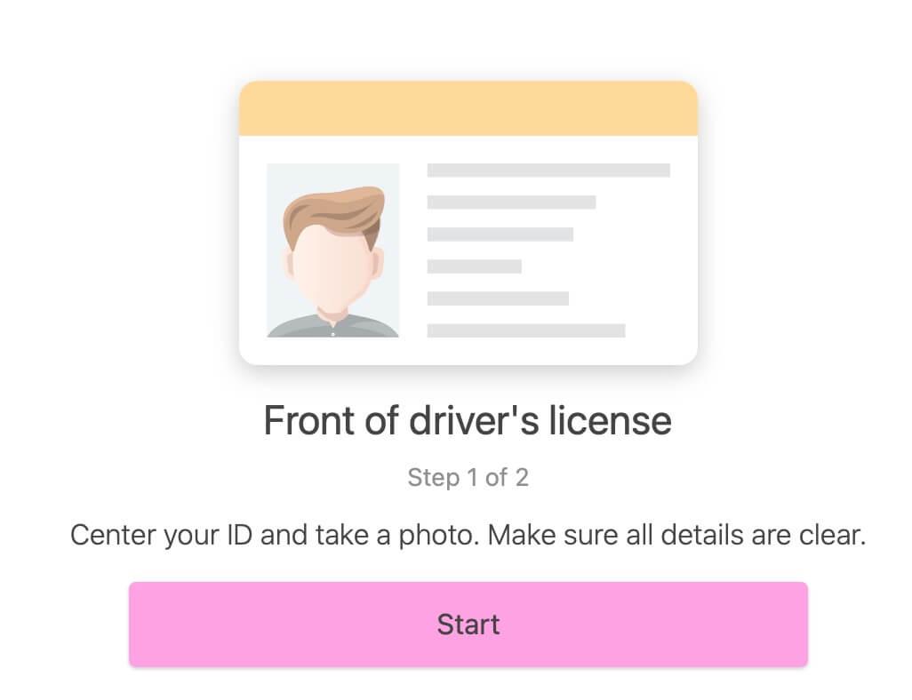"""""""チュートリアルに従って身分証明書、顔写真の撮影を進めていきます"""""""