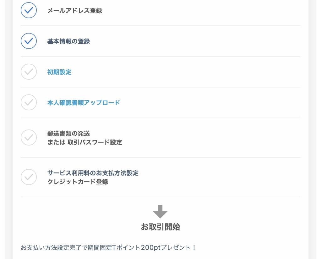 """""""ネオモバイル証券初回ログイン後の画面"""""""