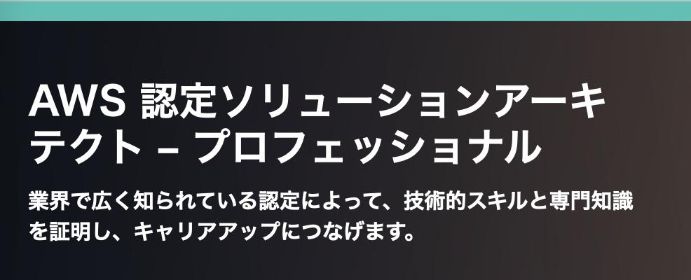 """""""AWS 認定ソリューションアーキテクト(プロフェッショナル)"""""""