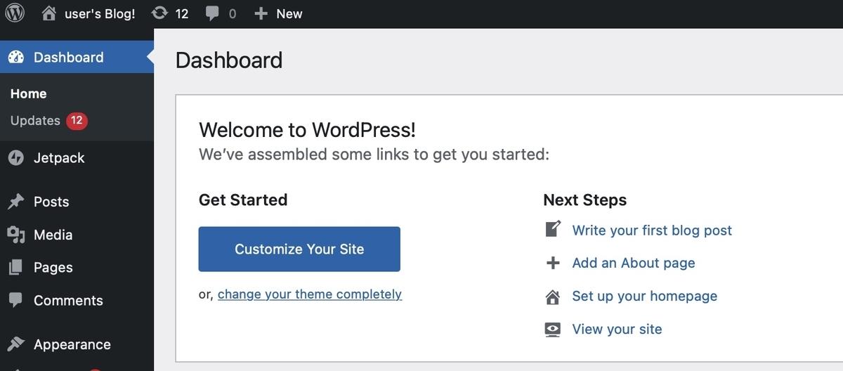 """AWS lightsail WordPress管理画面"""