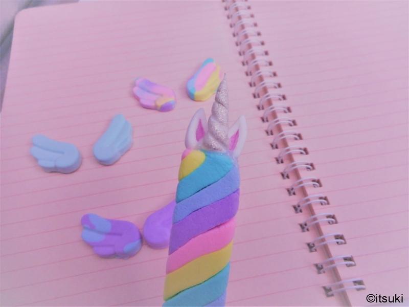 ボールペンを粘土でデコレーションDIY