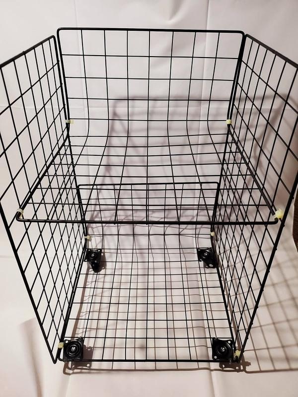 ワイヤーネットを使って収納棚を自作