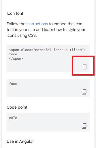 HTMLタグのコピー